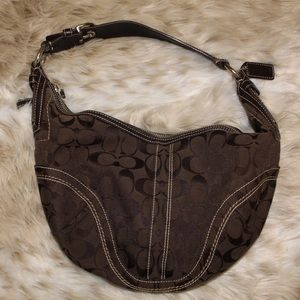 Coach Chocolate Brown small hobo shoulder bag